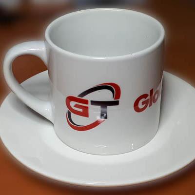 Чашка с логотипом, кофейный набор с логотипом.