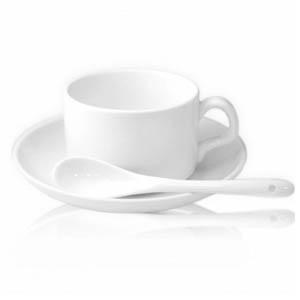 Логотип на чашку с блюдцем и ложкой